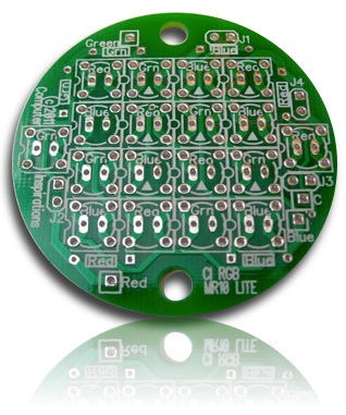 MR16 Bare PCB for 18 5mm or Piranha LEDs